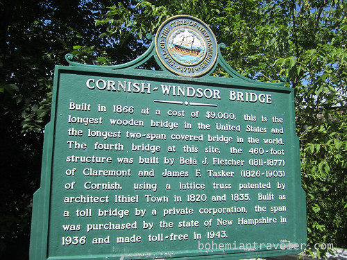 Cornish Windsor Covered Bridge sign