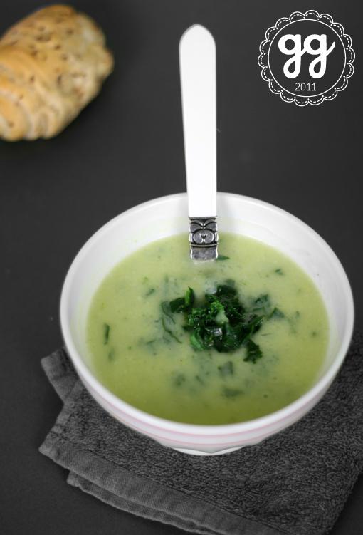 Zuppa di porri, cavolfiore e spinaci