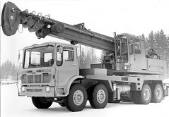 Unknown Origin Or Make ...............VANAJA..? (Jibup) Tags: mobile truck big lift duty transport boom cranes lorry vehicle chassis heavy load southall carry strut deliver lifting capacity haulage aec