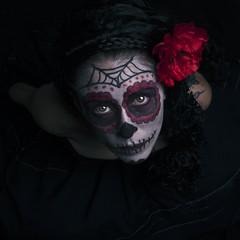 + La Bella Catrina + (RominikaH) Tags: mexicana mexico skull katrina mujer nikon retrato zaragoza mexican catrina portrair calavera d90 mejicana lacatrina