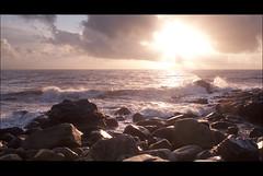 Start of another day (alanc2011) Tags: sunset sky sun seascape nature clouds sunrise newcastle landscape rocks waves bloodybridge
