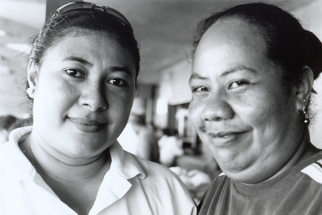 Tongan Girl and her Mother