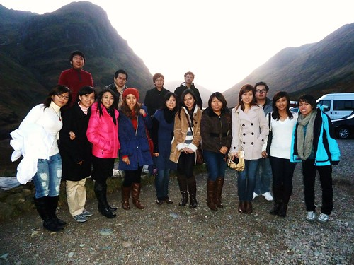 Tour Group at Glencoe