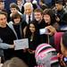 Photo op: the participants with President Buzek
