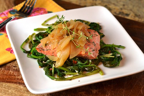 salmon, apple, clean eating