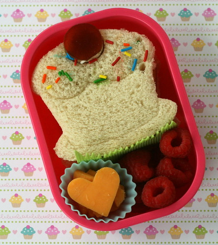 Sweet Cupcake Lunch Punch bento