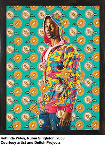 Kehinde Wiley, Rubin Singleton, 2008 by artimageslibrary