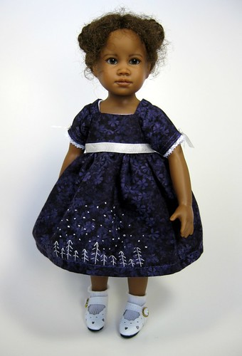 Anisha, full view with embroidered dress by elizabeth's*whimsies