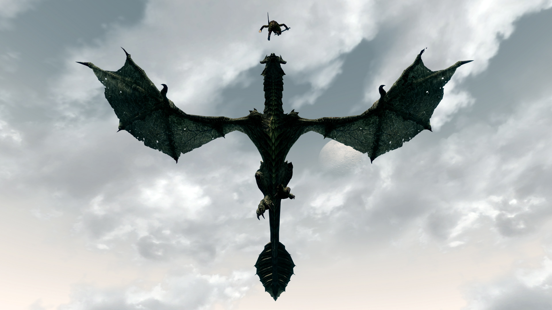 Skyrim Dragon Wallpaper 1080p