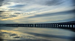 Tay Rail Bridge - Dundee Scotland (Magdalen Green Photography) Tags: scotland moody dundee scottish hdr tayrailbridge coolclouds 1162 railbridges iaingordon magdalengreenphotography