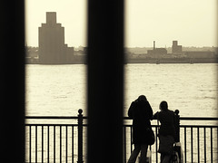 view across the river (fotobananas) Tags: liverpool fence river shopping birkenhead friday mersey wirral merseyside hff fotobabanas
