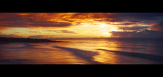Scarborough Beach Sunrise || MORETON BAY (rhyspope) Tags: sunset cloud sun man color colour beach sunrise canon fishing fisherman marine queensland scarborough 500d rhyspope