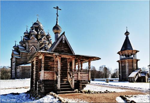 Church of the Protection of Most Holy Theotokos on Neva. Церковь во имя Покрова Пресвятой Богородицы. Невский лесопарк. ©  Peer.Gynt