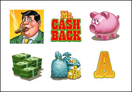 free Mr. Cashback slot game symbols
