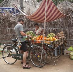 market (stesh stesh) Tags: india bicycle ruins village karnataka hampi holyplace