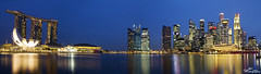 Singapore_City_Panorama1 (Gareth Spiller) Tags: city night skyscraper canon buildings reflections lights singapore sundown dusk clam financialdistrict 7d bluehour fullerton skydeck 1755 marinabay marinabaysands garethspiller
