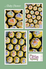 Kristina's Baby Shower (TheLittleCupcakery) Tags: bear orange baby green yellow shower cupcakes purple heart teddy little tlc cupcakery klairescupcakes
