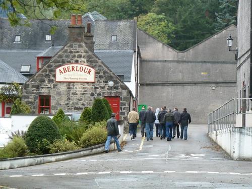 Tour Group at Aberlour Distillery