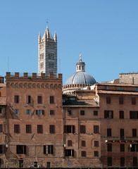 Siena Summits, Tuscany (johan.pipet) Tags: old city trip travel roof sky italy tower history church architecture canon town europe top culture sunny tuscany siena palo bartos barto