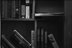 Books (Dave Gurney) Tags: blackandwhite coffee monochrome reading library coffeeshop books bookshelf lincoln greyscale coffeearoma