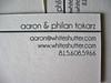 White Shutter Business Cards