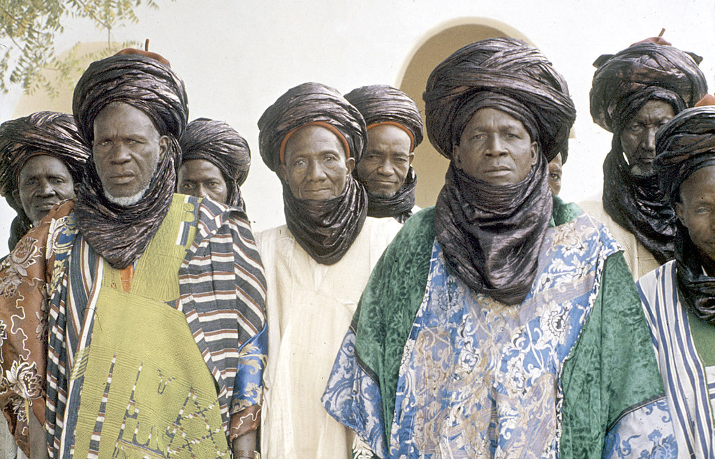 Elite bodyguards of the Emir of Katsina at a morning greeting ceremony, Katsina, Nigeria. [slide] 1959. eepa_01401