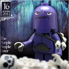 October 16 - The Purple People Eater (Morgan190) Tags: people halloween scary october advent purple calendar lego tasty creepy bones minifig minifigs custom eater m19 minifigure 2011 nom morgan19 morgan190