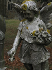 Angel scattering flowers (shaggy359) Tags: flowers flower church monument grave graveyard statue stone angel wings memorial child hand sad sweet beds wing bedfordshire skirt scatter gravestone bunch lichen churchyard grief posy grieving scattering childlike grieve maulden