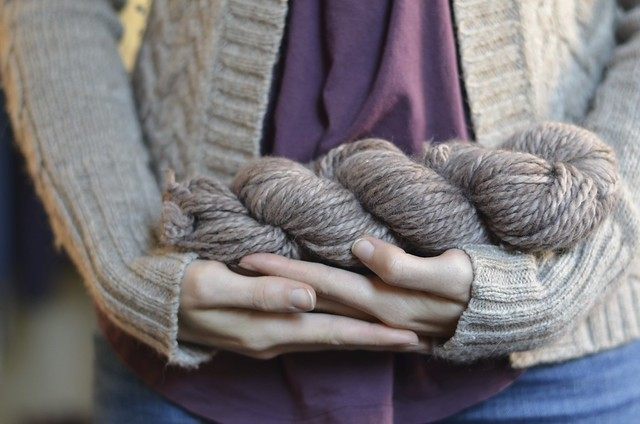Hand spun + dyed yarn