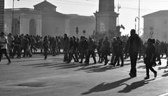 La libert che guida il popolo (_Bii_) Tags: people bw rome roma square nikon shadows ombra protest ombre persone demonstration protesta procession piazza complaint biancoenero manifestation sangiovanni manifestazione corteo camminare outcry cortege protestation manifestanti remonstrance d5000 manifestare protestare nikond5000 15ottobre2011 manifestazionediroma