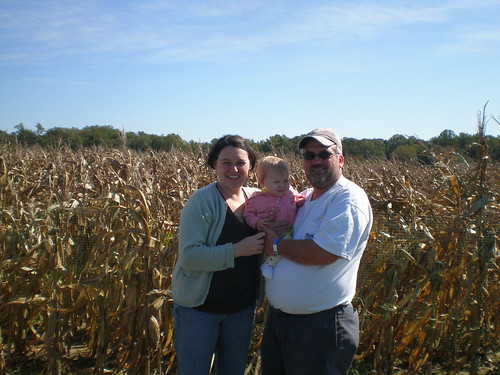 Outside the corn maze