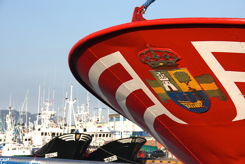 Colindres Coat of Arms on a Fishing Boat