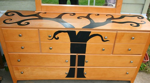 7 Drawer Dresser with Mirror   by Rick Cheadle Art and Designs