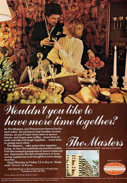 Vintage Ad #1,682: Spend More Time Together at The Masters