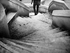 Camondo Steps / Stairs, Galata - Istanbul (adde adesokan) Tags: street blackandwhite bw white man black architecture stairs pen turkey asia asien europe candid trkiye steps shapes streetphotography olympus istanbul trkei forms sw escher schwarzweiss schuhe schwarz cartierbresson ep1 galata streetphotographer m43 mft mirrorless microfourthirds theblackstar mirrorlesscamera streettogs addeadesokan a2f24