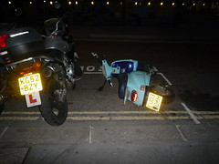 drunk motorcycle (Ambernectar 13) Tags: morning london october thecity motorcycle badparking fallenover stmaryaxe 2011 wedneday beenmixinghisengineoils canttakehisdrink