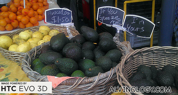 Funny signs on Avocado