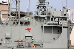 HMAS Newcastle FFG 06 Guided Missile Frigate, Royal Australian Navy, Garden Island, Sydney, New South Wales, Australia. (Michael J. Barritt) Tags: sydney australia newsouthwales gardenisland guidedmissilefrigate hmasnewcastle ffg06