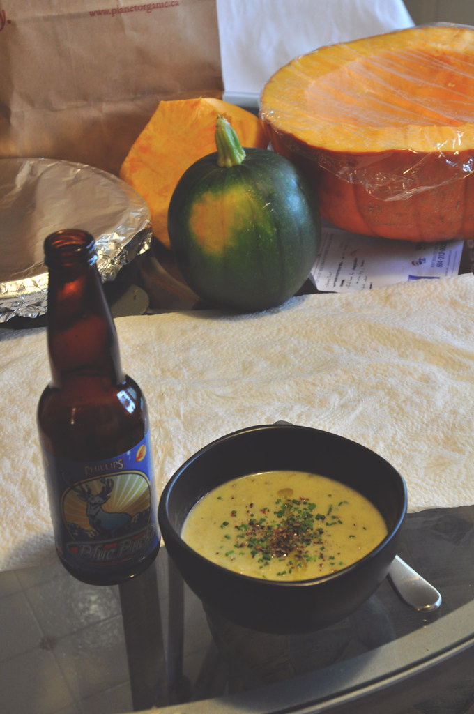 Blue Buck and potato leek soup