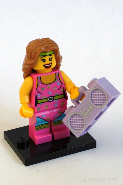 Lego Fitness Instructor Minifigure