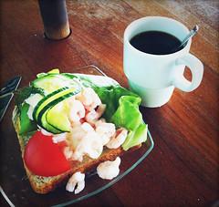 Breakfast (tropeone) Tags: morning sea sun coffee breakfast finland europa shrimp sandwich cafeteria silja