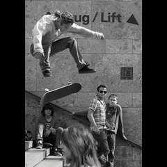 Lift (QL-ART) Tags: street people art square fun lift skateboard aktion qlart