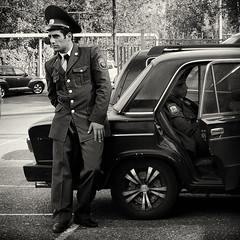 Hard day at the office... (c_c_clason) Tags: blackandwhite police sigma armenia schwarzweiss yerevan sigmadp2