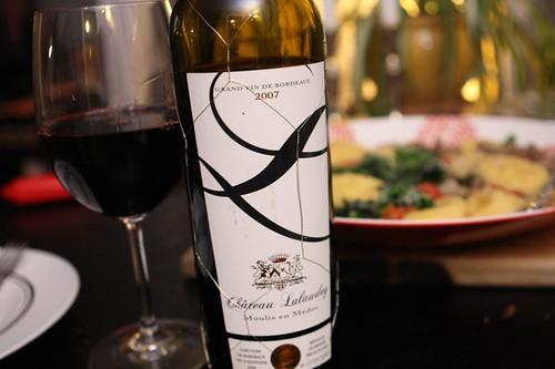 Chateau Lalaudey Moulis en Medoc Grand Vin de Bordeaux 2007