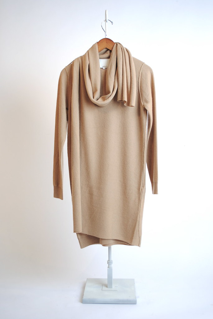 Double Layer Wrap Scarf Dress