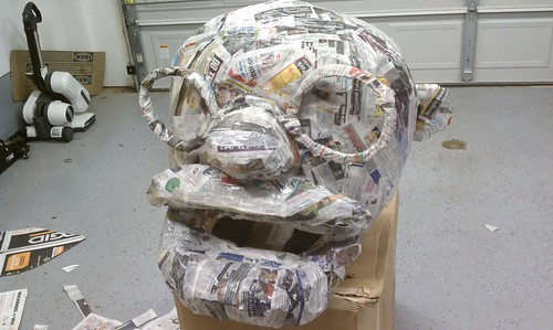 Stage 4 - Paper mache layer