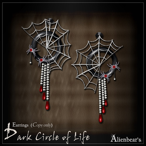 Dark circle of life Earrings (Blood) NT version