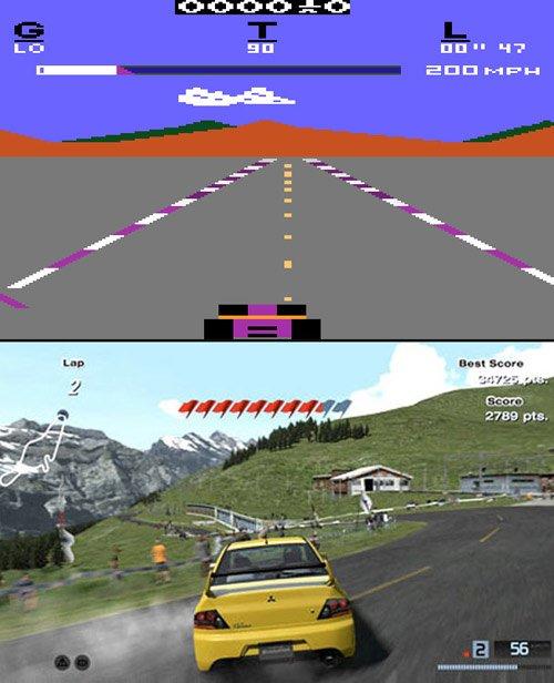 Pole position vs Gran Turismo 5