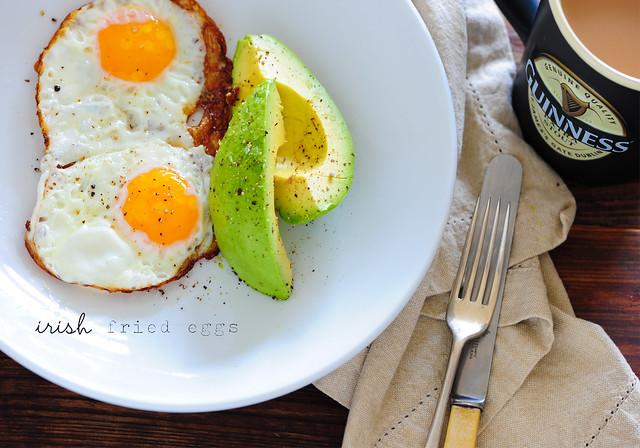 1 irish fried eggs