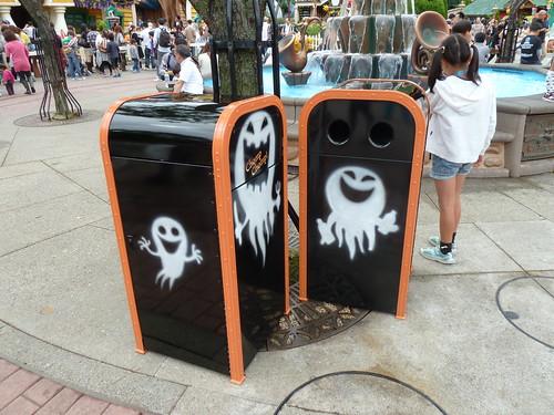 ディズニー・ハロウィーン トゥーンタウンのゴミ箱